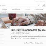 Die erste Cornelsen DaF-Webkonferenz – am 12. September 2020