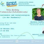 """Online-Workshop mit indonesischen Deutschstudierenden """"Lernerautonomie und Lernstrategien (in der Pandemie)"""""""